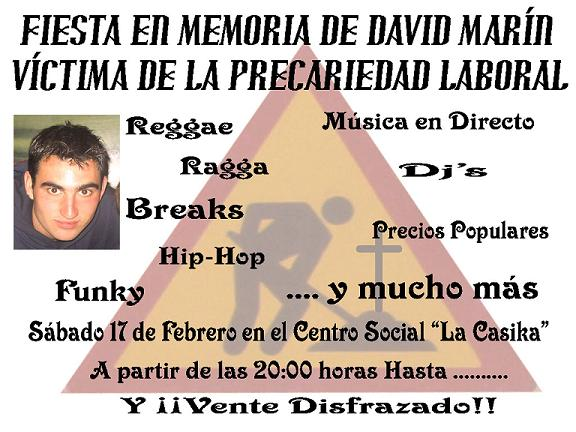 Fiesta en memoria de David Marin